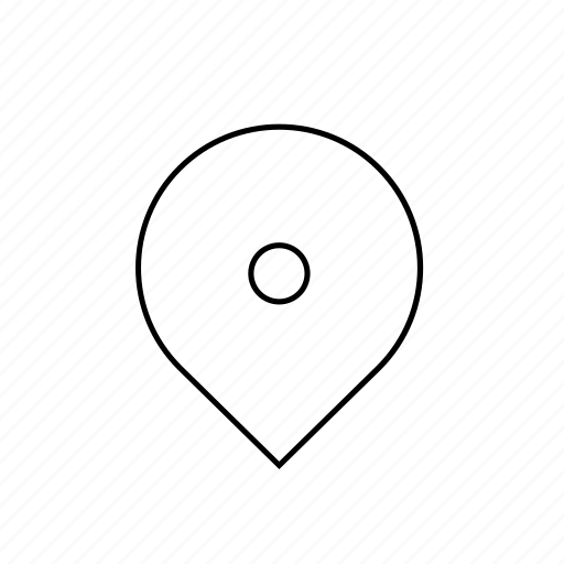 hollow, light, map, pin, ui icon
