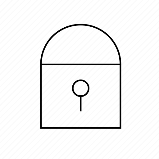 hollow, light, secure, ui icon