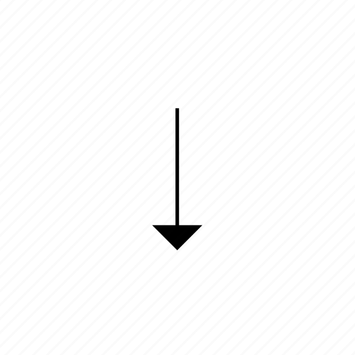 arrow, down, light, solid, ui icon