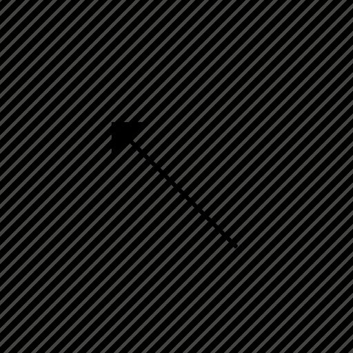 arrow, left, light, solid, ui, up icon
