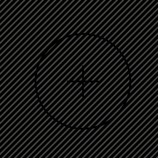 light, plus, ui, video icon