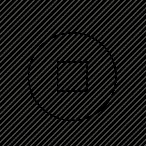 light, stop, ui, video icon