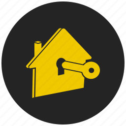 building, cottage, home, property, protected home, protected property, safe home icon