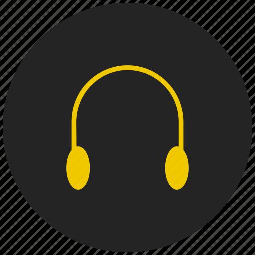 Earphones, handsfree, headphone, headset, help support, media, music icon - Download on Iconfinder