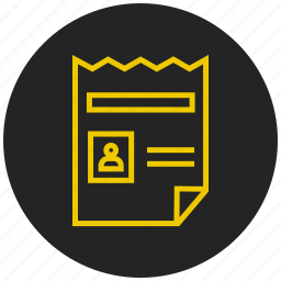 document, file, profile, resume, text document, text file icon