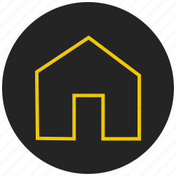 building, cottage, homepage, property, protected home, protected property, safe home icon