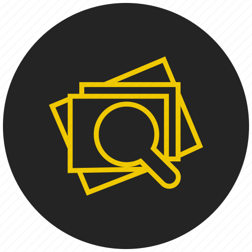 evaluate, implementation, search gallery, search images, zoom gallery, zoom image, zoom picture icon