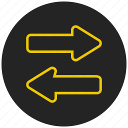 bidirection, double arrow, left right, navigation, two way icon