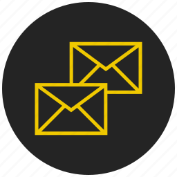 conversation, email, mail, message, receive mail, send mail icon