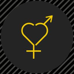 female sign, gender symbol, love, romance, sex symbol, venus symbol icon
