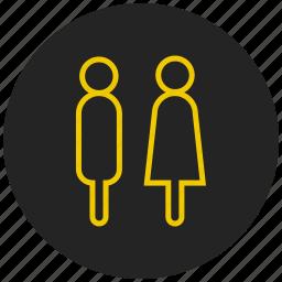 couple, family, gender symbol, life partner, male female, pair, romance icon