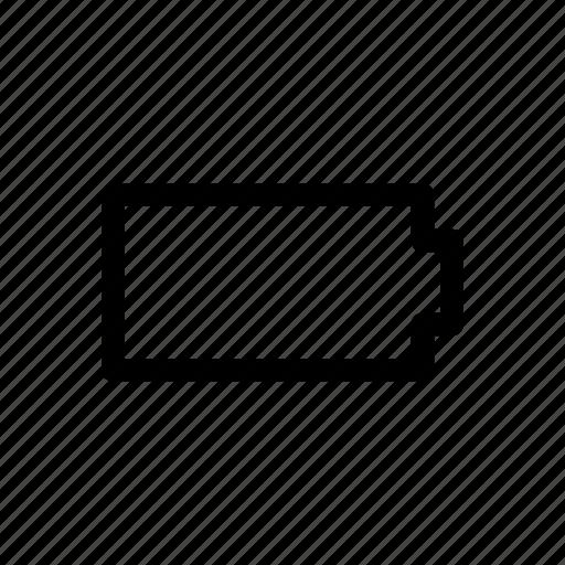 battery, dead, error icon icon