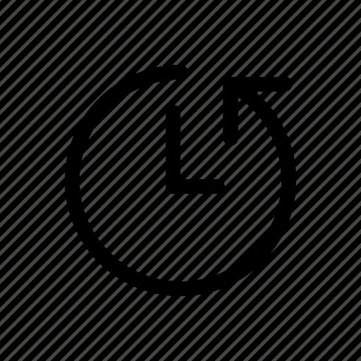 around, arrow, clock, customer, hours, the icon icon