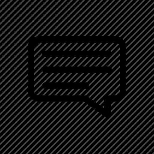 bubble, chat, conversation, talk icon icon
