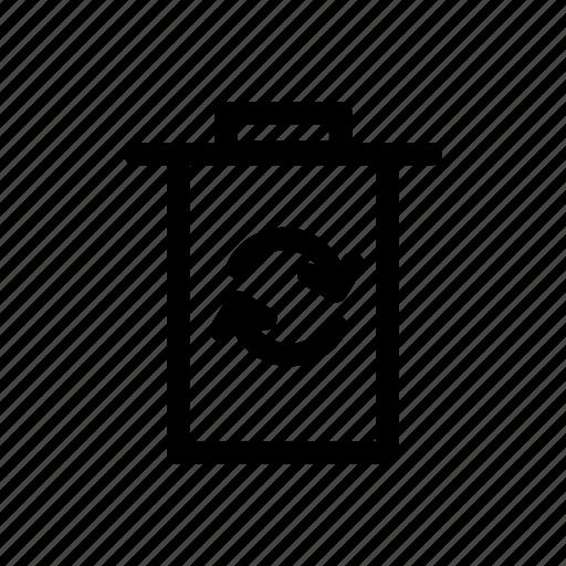 bin, garbage, recycle, trash icon icon