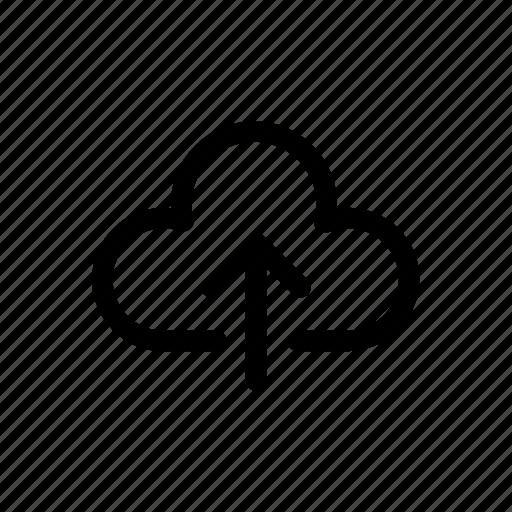 arrow, cloud, file, upload icon icon