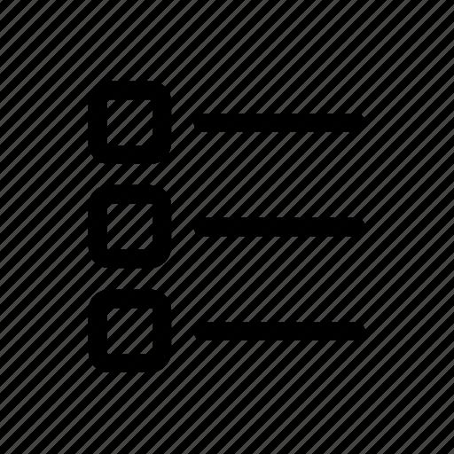 bullet, list, menu, options icon icon