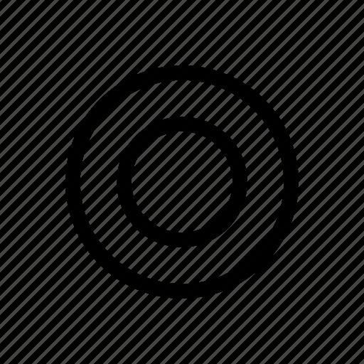 radio, radio button, red icon icon