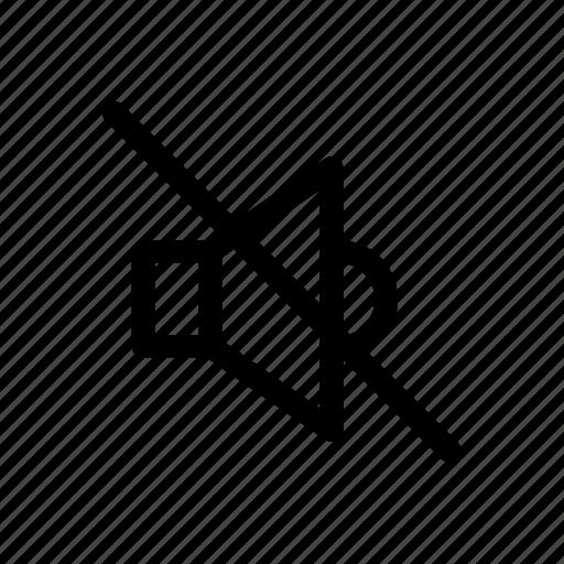 mute, off, sound, speaker icon icon