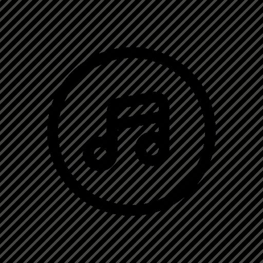 audio, multimedia, music, note icon icon