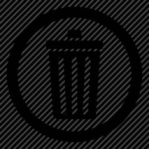 Delete, trash, trash can, wastebin icon |Delete Trash Button Icon