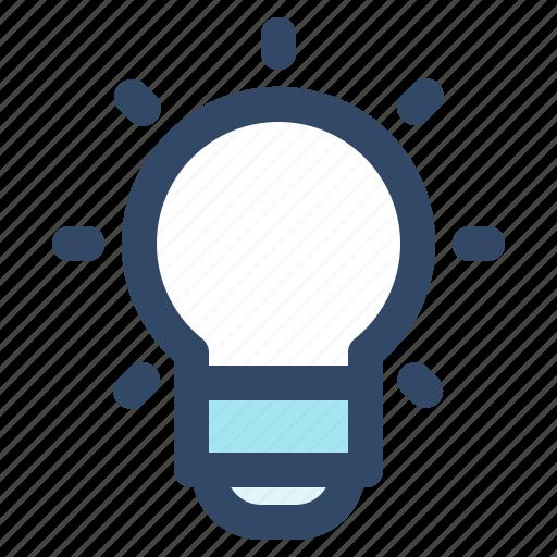 brain, bulb, essential, idea, interface, ui, user icon