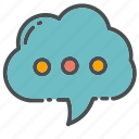 bubble, callout, cloud, contact, message, speech, text icon