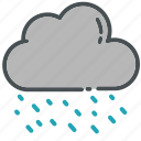 android, cloud, clouds, phone, rain, rainy, weather icon