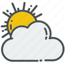 android, cloud, clouds, phone, sun, sunny, weather icon