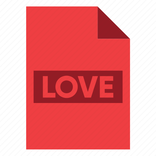 Document, extension, file, filetype, format, love, type icon - Download on Iconfinder