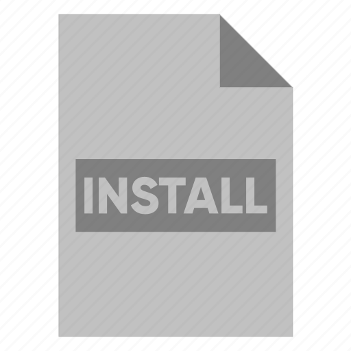 Document, extension, file, filetype, format, install, type icon - Download on Iconfinder