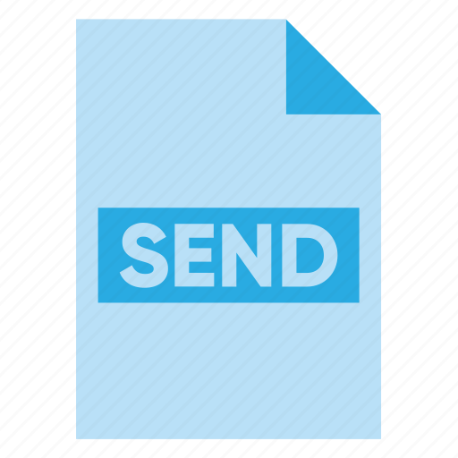 Document, extension, file, filetype, format, send, type icon - Download on Iconfinder