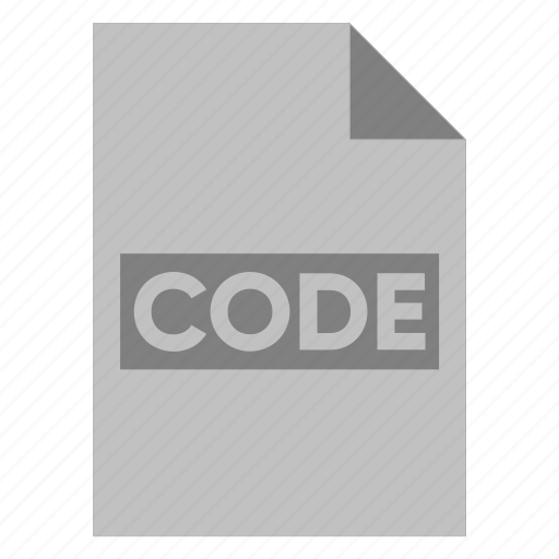 Code, document, extension, file, filetype, format, type icon - Download on Iconfinder