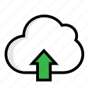 cloud, data, internet, ui, upload icon
