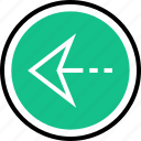 back, left, menu, nav, navigation, point icon
