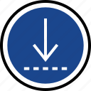 down, download, menu, nav, navigation icon