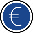 euro, funds, pay, sign icon