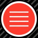 menu, nav, navigation, option icon