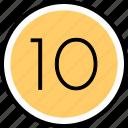 menu, nav, navigation, ten icon