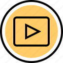 play, playback, video, youtube icon