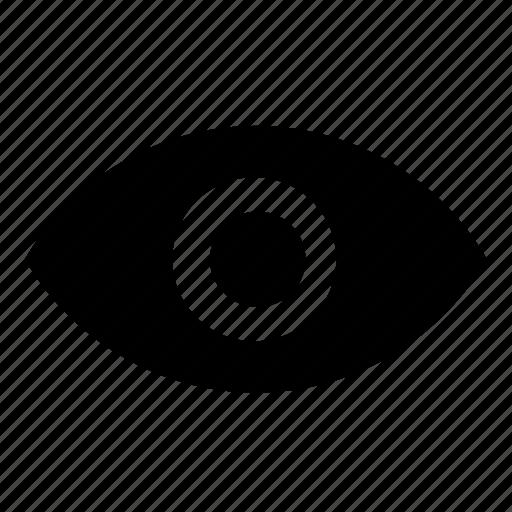eye, navigation, security, ui, user interface, views, web icon