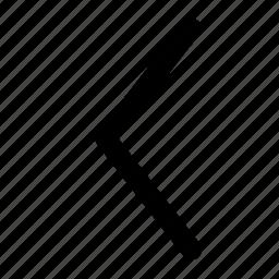 arrow, left, nav, ui, web icon
