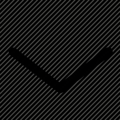 arrow, down, nav, navigation, ui, website icon