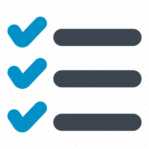 check mark, checklist, file, layout, menu, reporting, task icon