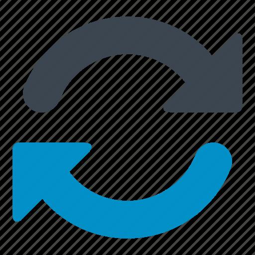 arrows, circular arrow, orientation, recycle, refrest icon