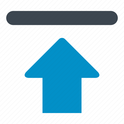arrow, file upload, interface, up, up arrow, upload icon