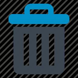 bin, delete, garbage bin, garbage can, rubbish, trash icon