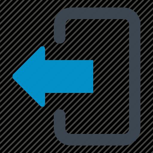 arrow, control, door, exit, left arrow, log out icon