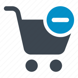 cart, minus, online store, shopping cart, shopping store, supermarket icon