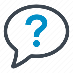 conversation, help, how, how often, question mark, speech bubble, which one icon